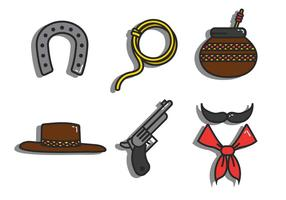 Gaucho-Vektor-Icon-Set