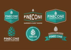 Conos del pino Logo Vector libre