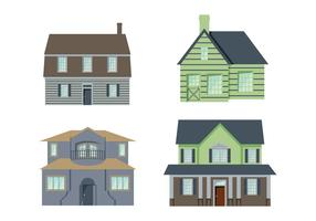Colonial Houses Vector