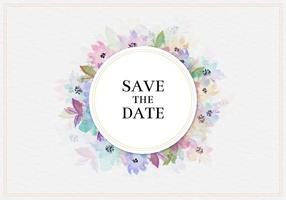 Gratis Vector Save The Date Aquarel Floral Frame