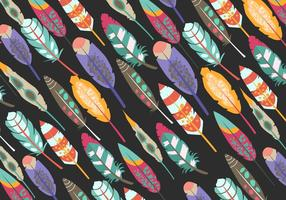 Pattern Of Boho Pluma vector