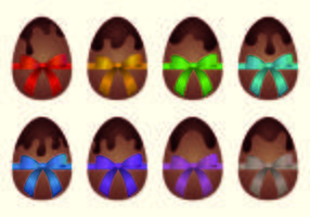 Vector Of Chocolate Easter Eggs