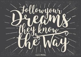 Inspirational Typographic Illustration
