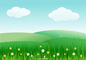 Beautiful Spring Landscape Illustration vector