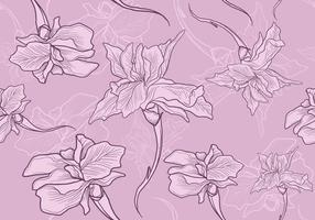 Iris Flower Seamless Pattern vector