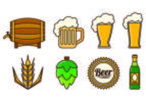 Uppsättning Cerveja Ikoner