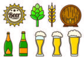 Set Of Cerveja Icons vector