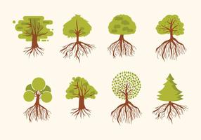Tree With Roots Vector