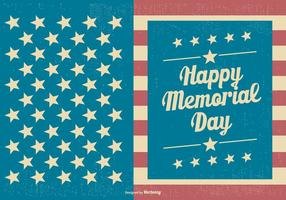 Modello di carta Memorial Day vintage