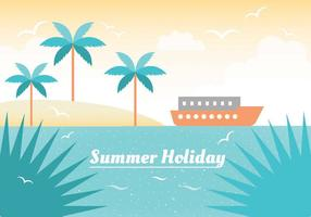 Free Summer Vacation Vector Illustration