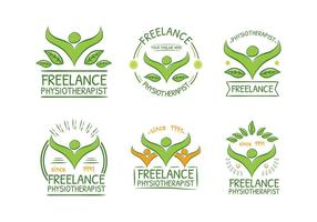 Fisioterapeuta verde del logotipo del vector gratuito