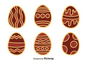 Hand Drawn agradável Chocolate Vector Easter Eggs