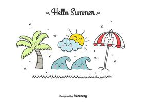 Doodle Summer Vector Set