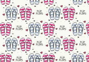 Doodle flip flops vector patrón