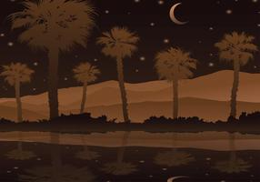 Palmetto Noite Vector grátis