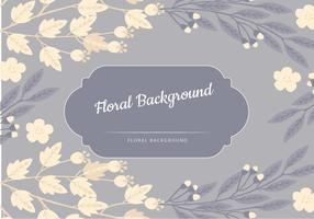 Vector Blue Floral Background