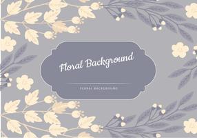 Arrière-plan vecteur floral bleu