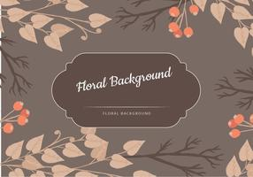 Vector Fondo floral de Brown