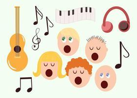 Los vectores de música gratis