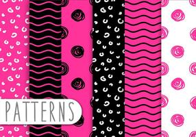 Pink And Black Pattern Set