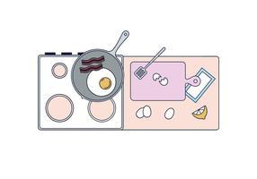 Kostenloses Frühstück Kochen Vektor