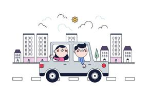 Free Carpooling Vector