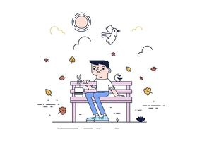 Free Park Bench Vector