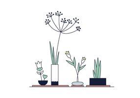 Vecteur gratuit Ikebana