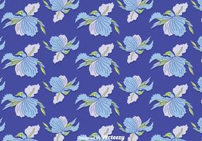 Blue Iris Flowers seamless Pattern