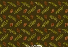 Pine Cones And Leaves Seamless Pattern Vector