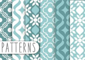 Blue Decorative Pattern Set