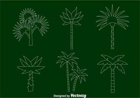 Palm Tree Line Vectors