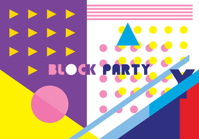 Block party vektor