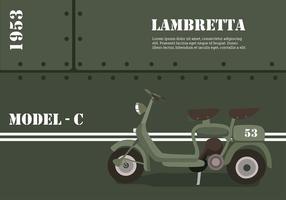 Lambretta modèle-C Vecteur libre