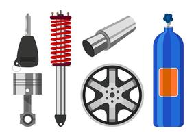 Car Equipment Free Vector