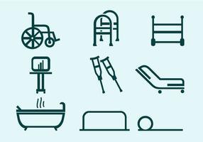 Fysiotherapeut Tools gratis vector