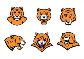 Logo livre Tiger Vector Set