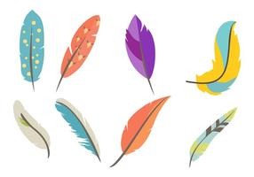 Gratis Vintage Feather Vector