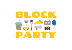 Block party vector icons