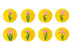 Gratis Iris Flower Icons Vector