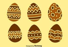 Insieme di vettori di uova di Pasqua al cioccolato Nizza