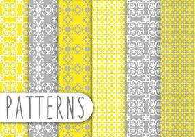 Yellow and Grey Decorative Pattern Set