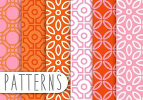 Pink and Orange Decorative Pattern Set
