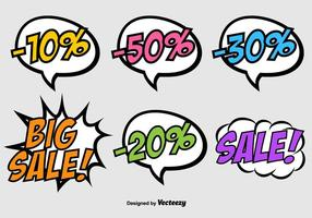 Vector Speech Bubbles su stile Pop Art - banner di sconto