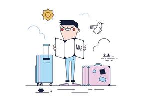 Freier Reise-Vektor
