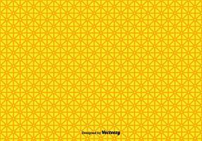 Forme géométrique jaune vecteur modèle