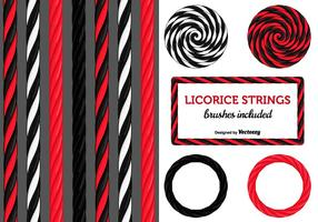 Zwarte En Rode Licorice Candy Strings