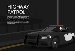 Patrol Cop Car Vector