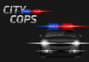 Police Lights Car Free Vector