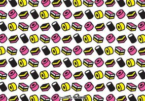 Allsorts Licorice Seamless Vector Pattern
